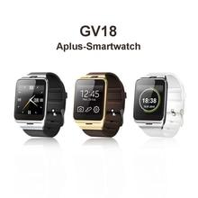 Aplus gv18 smart watch pulsera del bluetooth del teléfono android smart watch usable dispositivo Móvil GSM SIM Soporte NFC FM PK DZ09 GT08 U8