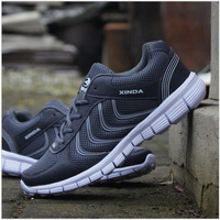 Outdoor Running Shoes Men LightWeight Air Mesh Breathable Sneakers 2017 New Hot Lace Up Sport Shoes