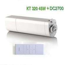 מקורי Eruiklink Dooya חמניות 220 V 50 mhz חשמלי וילון מנועים KT320E 45 W עם מרחוק DC2700 אינטליגנטי נייד שליטה