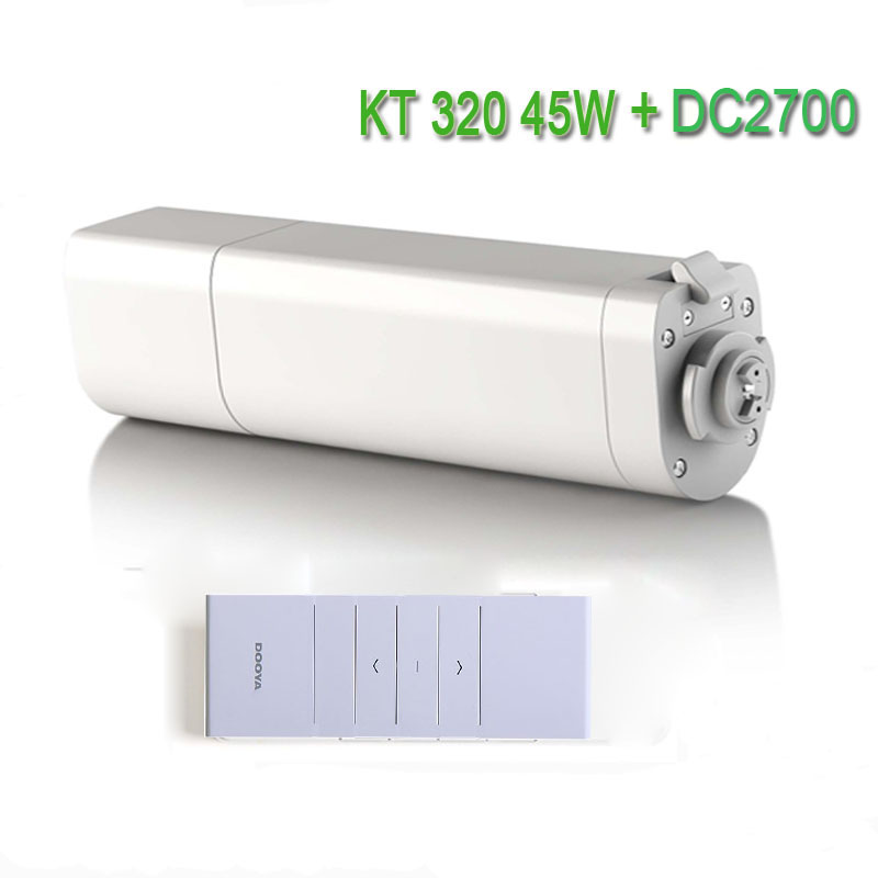 Original Eruiklink Dooya Sunflower 220V 50mhz Electric Curtain Motors KT320E 45W With Remote DC2700 Intelligent Mobile Control