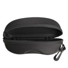 Zipper Eye Glasses Sunglasses Hard Case Box Portable Protector Black Cute Style JL