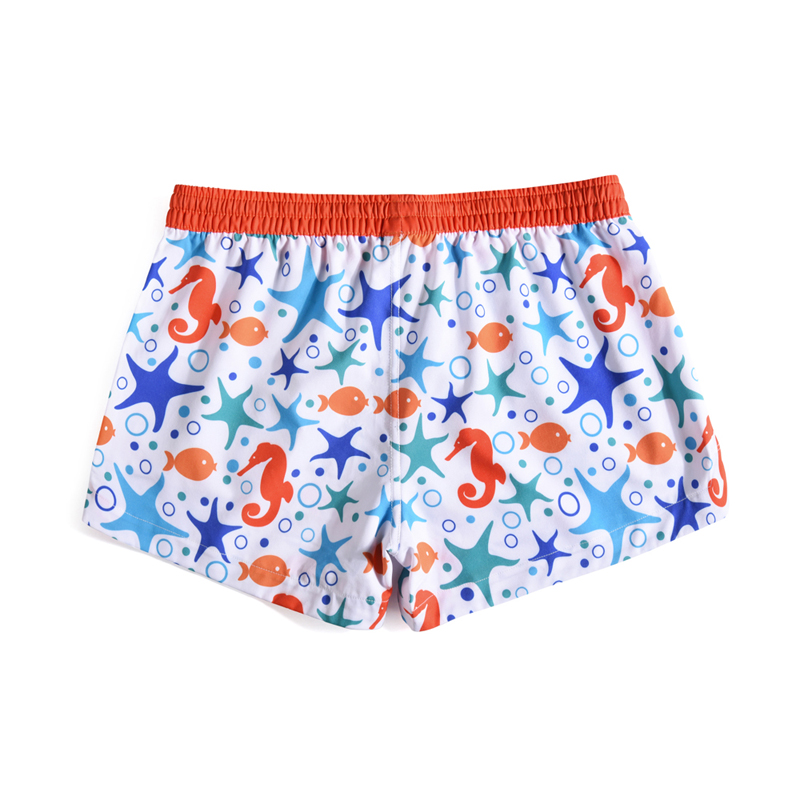 Quick-drying 3D Shorts Beach Womens Creative Graffiti Drawstring Elastic Tape Loose Board Shorts Bermuda 2019 Summer Holiday