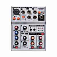AM-G04A Bluetooth Record Multi-purpose 4 Channels Input Mic Line Insert Stereo USB Playback Professional Audio Mixer