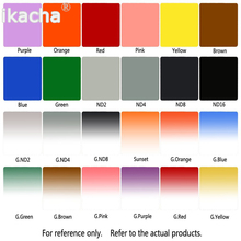 24pcs Filter Kit ND2 4 8 16 Blue Orange Red Green Cokin P Series Square Graduated