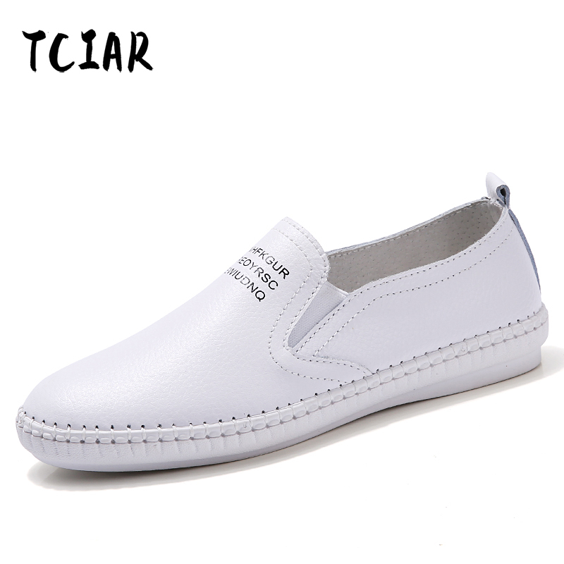 New Korean Genuine leather With White Shoes Women Female White Board Shoes Casual Shoes Female For All Season Hot Selling NX2018 girls and ladies favorite white roller skates with full grain genuine leather dual lane roller skate shoes for adult skating
