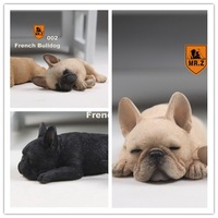 1 6 Scale Figure Accessories French Bulldog Sleep For 12 Action Figure Doll Animal Model Toy