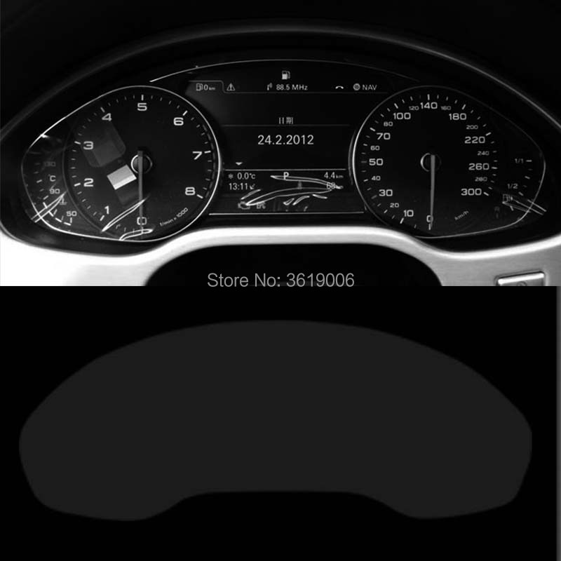 TOMMIA For <font><b>Audi</b></font> <font><b>A8</b></font> 11-17 Screen Protector HD <font><b>4H</b></font> Dashboard Protection Film Anti-scratches Car Sticker image