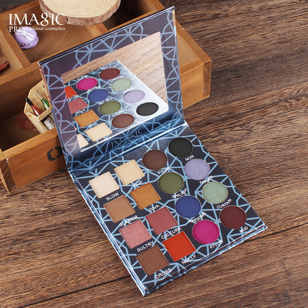 IMAGIC Multicolor 16 Color Shimmer Glitter Eye Shadow Plate Powder Matt Eyeshadow Cosmetic Makeup brochas maquillaje new 2018 #7
