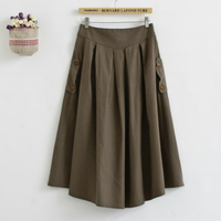 Vintage Retro Cute Bohemian Mori Girl Hippie Boho Lolita Rokken Cotton Linen A Line Pleaated Women Spring Fall Long Maxi Skirt
