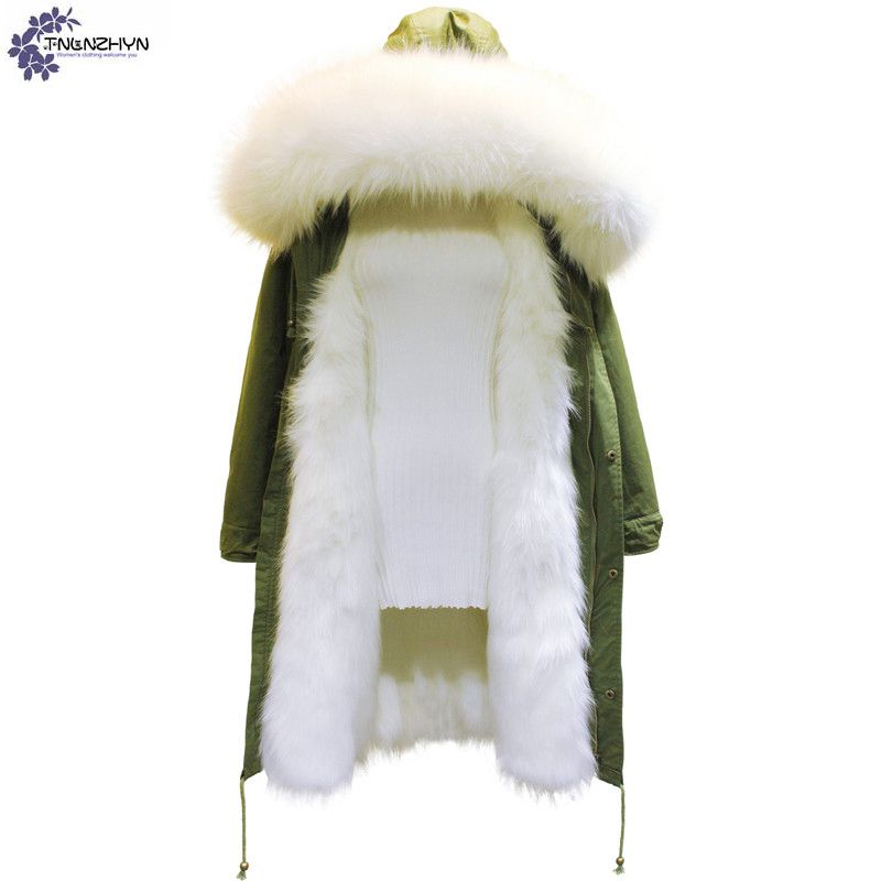 TNLNZHYN winter Women clothing warm cotton coat fashion high-end large size Hooded fur collar female cotton Outerwear QQ560 комплект белья letto народные узоры 1 5 спальный наволочки 70х70 цвет красный белый бордовый