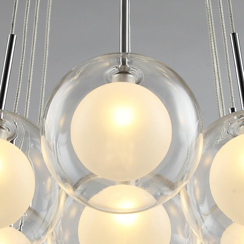 Современный светодиодный светильник люстра, скандинавский стеклянный шар, лампа для гостиной, подвесные светильники, домашний декор, для с... - 5