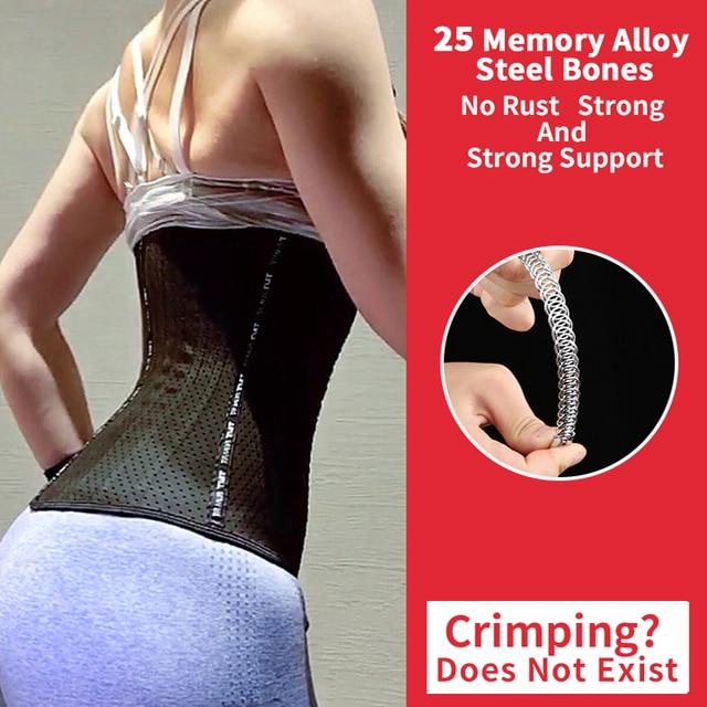 TMT Women Latex Waist Training Corset Posture Corrector Underbust for Losing Weight Sport Sweat Belt body slimming shaper 1