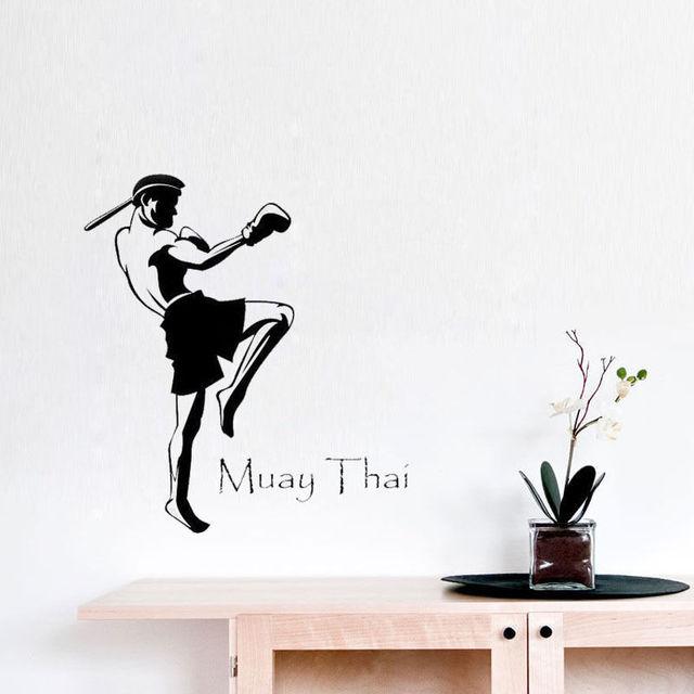 Nice Muay THai Quote Wandtattoo Kampfkunst Wandaufkleber Sport Wand Dekorative  Aufkleber
