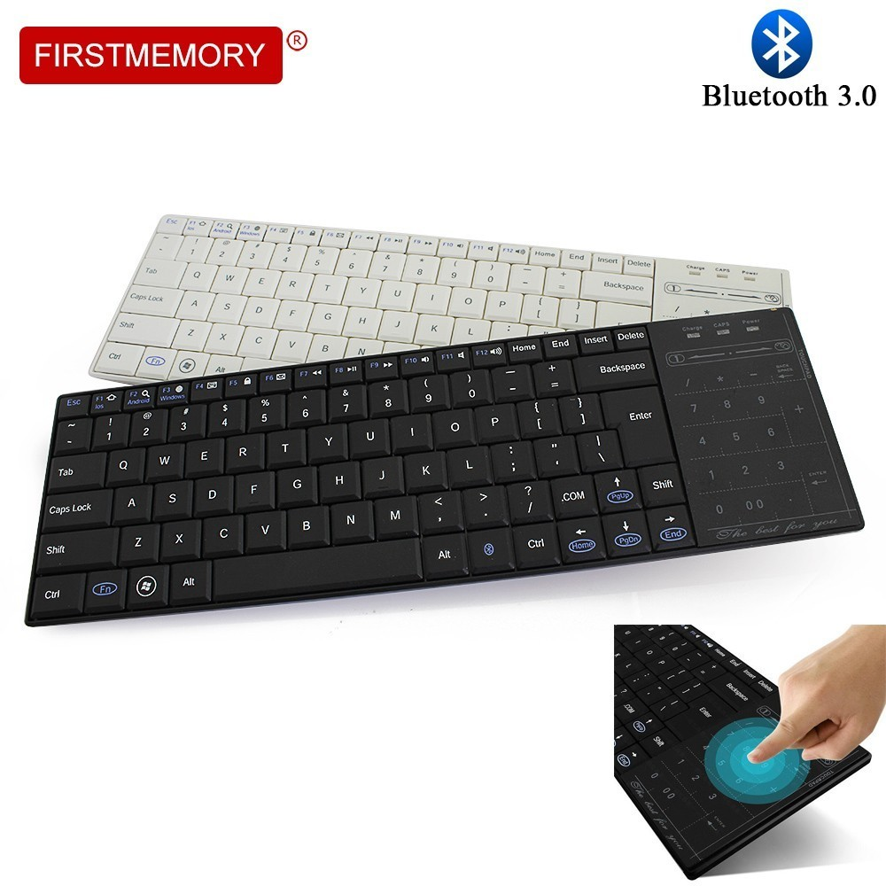 Wireless Bluetooth BT 3 0 Gaming Keyboard Touch Pad Ergonomic Multimedia Computer Keycap With Mouse Mode For PC Laptop Android in Keyboards from Computer Office