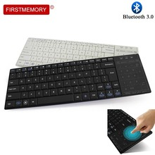 Wireless Bluetooth BT 3.0 Gaming Keyboard Touch Pad Ergonomic Multimedia Computer Keycap With Mouse Mode For PC Laptop Android 2017 new mc 35ag wireless touch digital keyboard touch mouse 2 4g wireless mini keyboard touch pads for pc