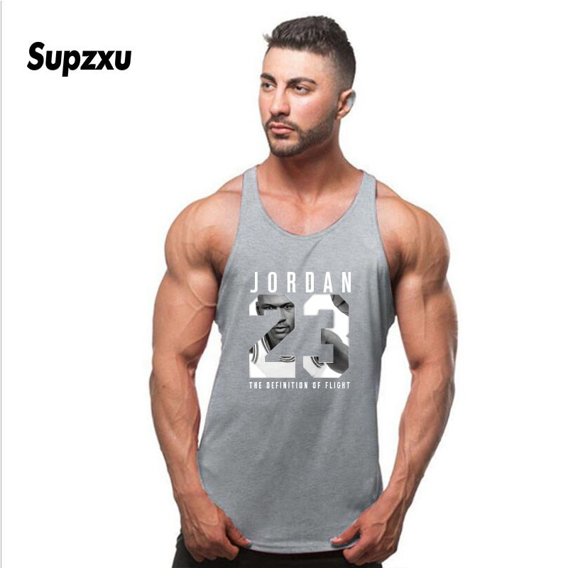 Summer Brand Clothing Jordan 23 Men Vest Cotton Print Men Fitness Tank Tops Fitness Camisetas Hip Hop sleeveless shirt in Tank Tops from Men 39 s Clothing