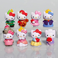 HELLO KITTY Figura de Kitty PVC Figure Juguetes Muñecas Modelo Gran Regalo 5 cm Aprox 8 Unids/set
