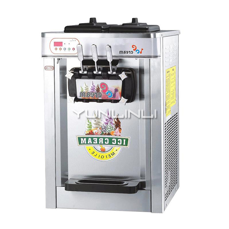 22L Ice Cream Machine Stainless Steel Ice Cream Maker 220V Commercial Ice Cream Device NP-661