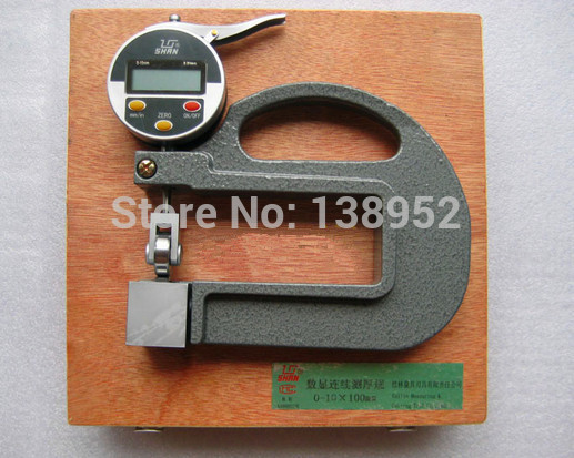 0 10mm 0 01mm digital thickness gauge with roller insert Continuous electronic Thickness Gauge