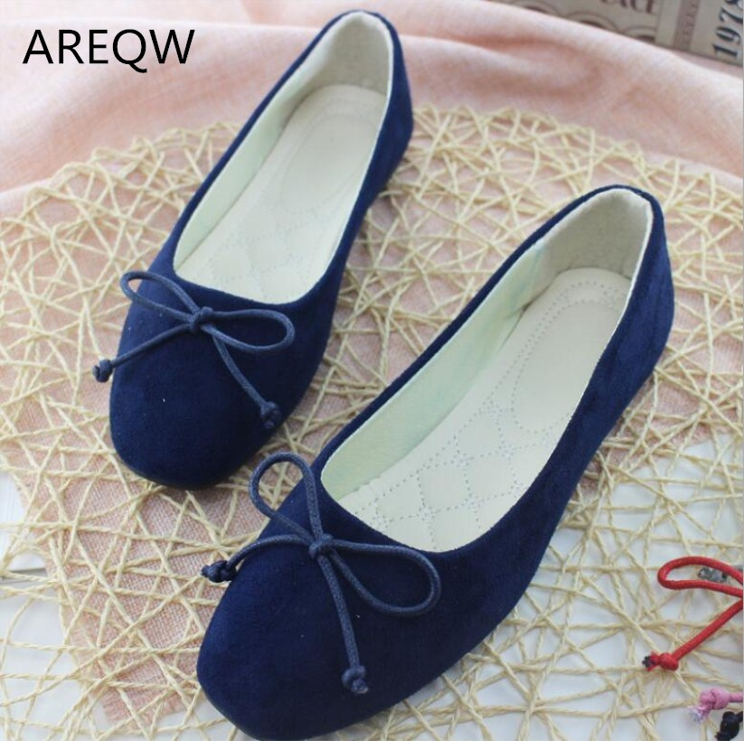 2017 Fashion Women Flat Shoes Square Head Suede  The Comfortable Big Yards Single Shoes Woman Flat Shoes Size 35-42 hot sale new products for women s shoes flat sheet canvas shoes camouflage roses multicolor big yards 42