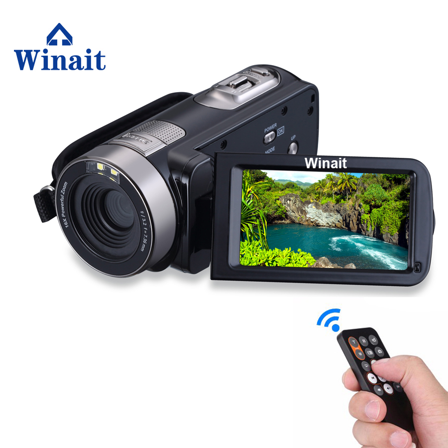Winait Night vision 24MP FULL HD 1080p digital video camera, 3.0'' Touch display/16x digital zoom video camcorder free shipping winait electronic image stabilization hdv z8 digital video camera with recording function touch screen