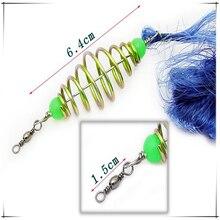 Hot Sale New Design Copper Spring Shoal Retractable Fishing Net Netting Luminous beads Swivel Connector Drift Net