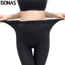 BONAS Women Winter Warm Tights High Elastic Velvet Pantyhose Sexy Keep Legins Female Double Crotch