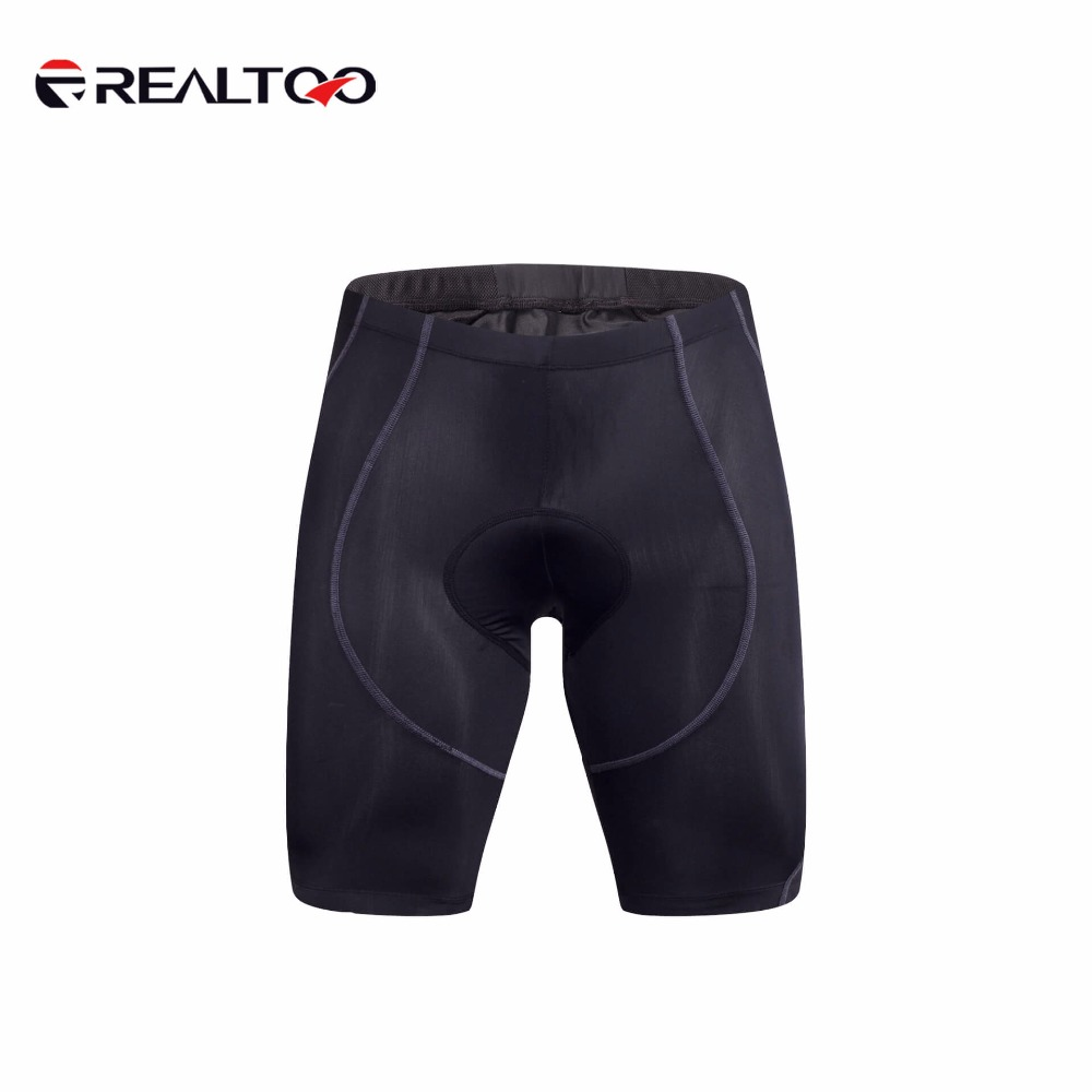 REALTOO Men Team Bike Bicycle Shorts Quick Dry Breathable Cycling Riding Shorts Elasticity Black Sports Bike Cycling Shorts