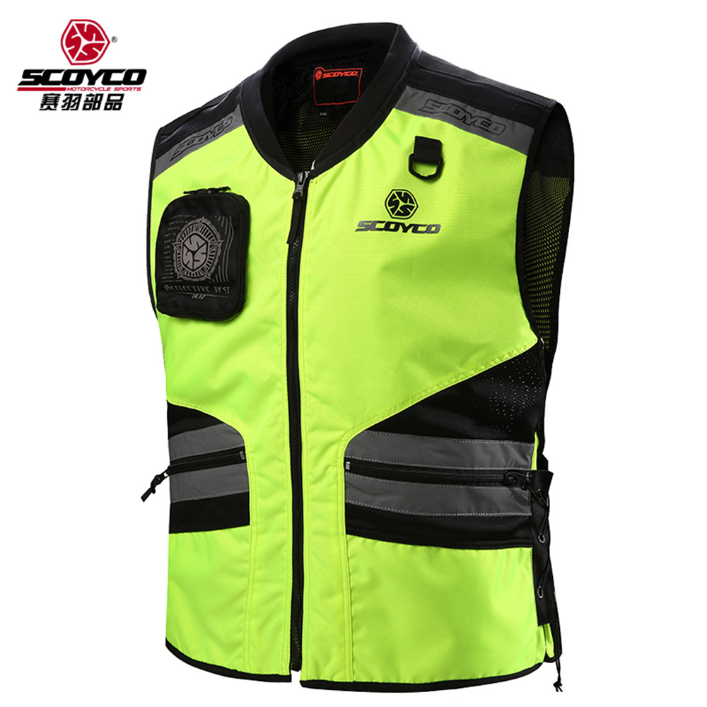 Cycling Reflective Clothing Reflective Vest Safety Clothing To Road Traffic Motocross Body Armour Protection Jackets