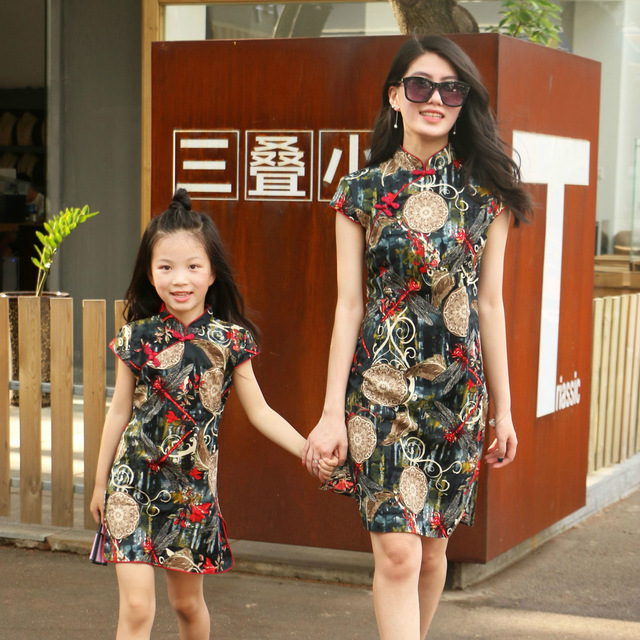 Family Matching Outfits Mother Daughter Dresses summer dress children national wind cheongsam dress mother daughter cheongsam Family Matching Outfits Kid (3+ years) Shop by Age Toddler (1-3 years)