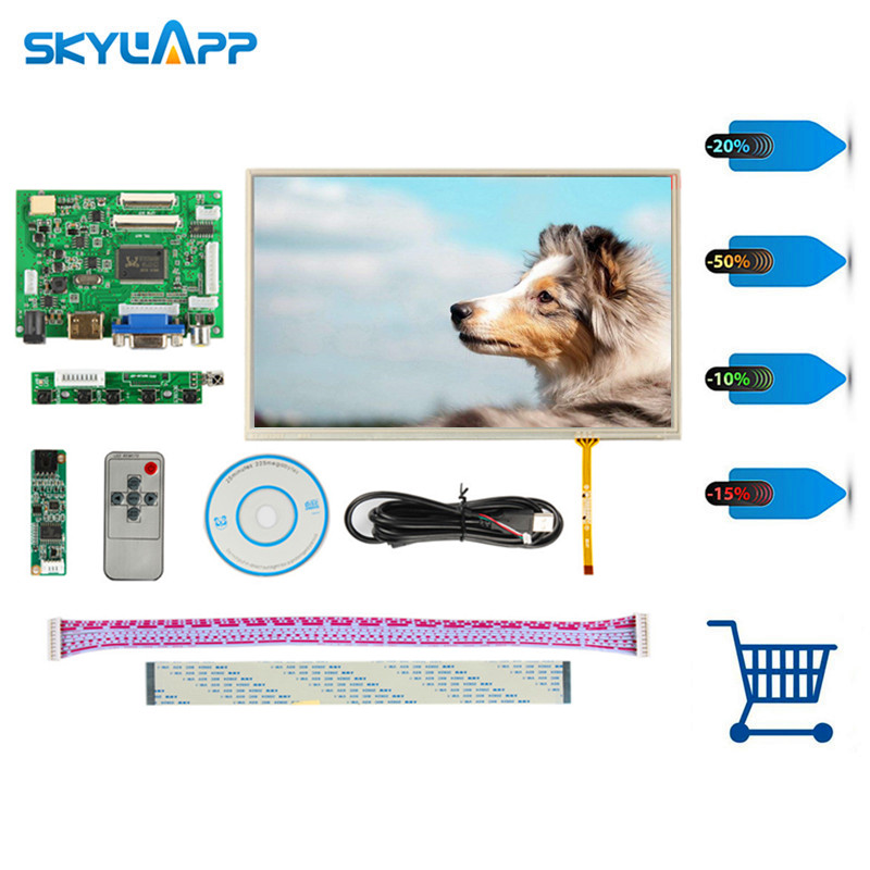 Skylarpu 10.1 IPS for Raspberry Pi Monitor 1280*800 TFT EJ101IA-01G HD LCD Display Touch Screen Remote Driver Board HDMI 2AV VGA 7 inch 1280 800 lcd display monitor screen with hdmi vga 2av driver board for raspberry pi 3 2 model b b a