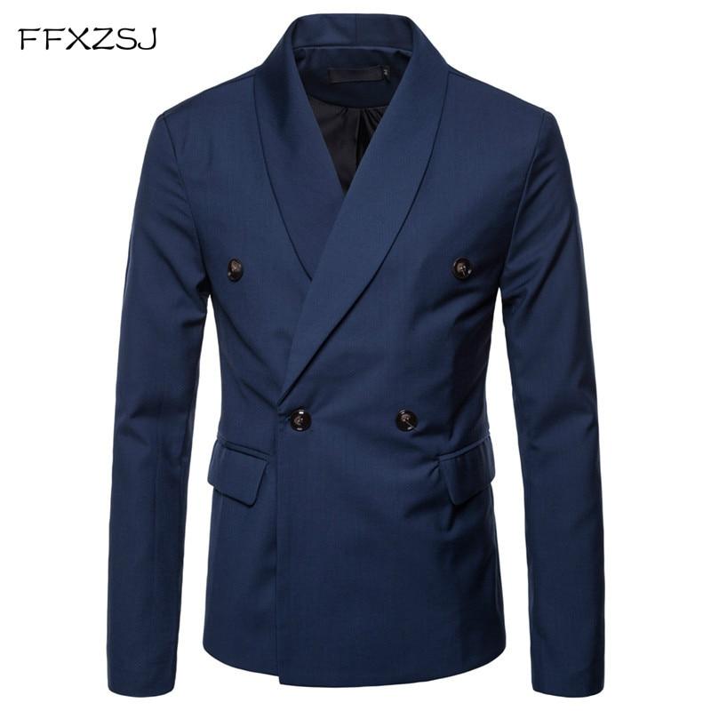 FFXZSJ 2018 New Arrival Business Mens Blazer Casual Blazers Men Lattice Formal Jacket Popular Design Men Dress Suit Jackets