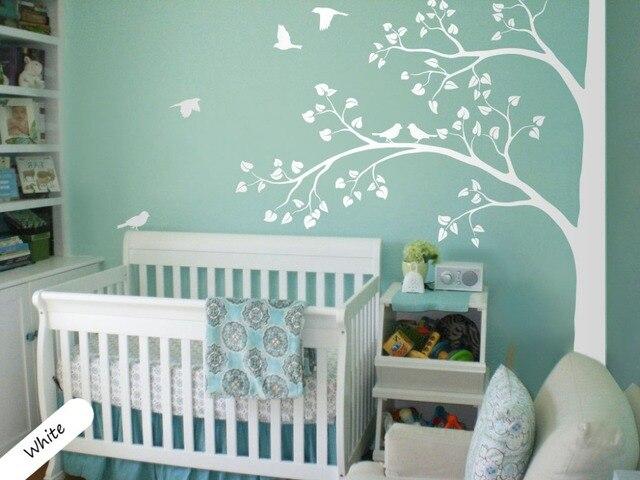 Grand Arbre Blanc Pour Enfants Bébés Chambre Belle Maison Decor Wall Sticker  Vinyle Amovible Arbre Avec