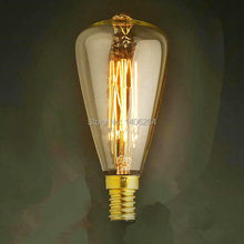 10PCS Marconi Bulb Lamp Vintage Edison Reproduction 40 Watt Clear Glass Fireworks E14 ST48 AC110V 120V 220V 240V Cafe Bar(China)