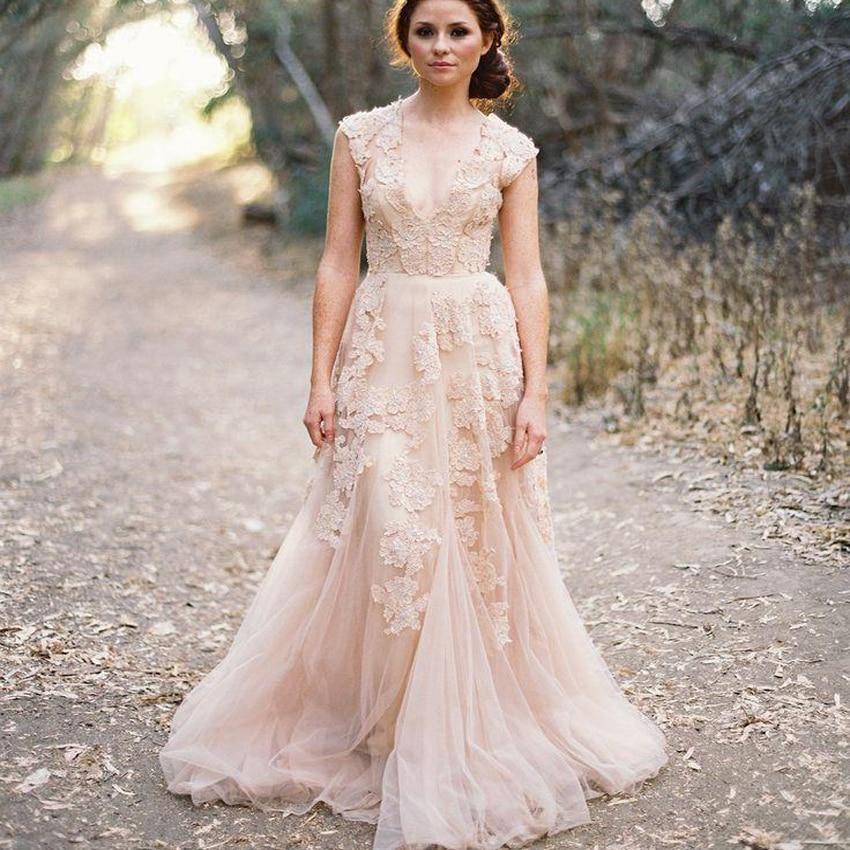 vintage lace beach wedding dresses 2017 sexy vestido de noiva deep v neck wedding dress layered