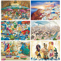 Finger Rock 1000 Pieces Paper Puzzles Intelligence Cartoon Hand Drawn Illustrations Jigsaw Puzzle Toys Brinquedos For Children