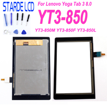 цена на STARDE Replacement LCD For Lenovo YOGA Tab 3 8.0 YT3-850 YT3-850M  YT3-850F LCD Display Touch Screen Digitizer Assembly