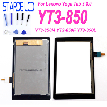 STARDE Replacement LCD For Lenovo YOGA Tab 3 8.0 YT3-850 YT3-850M  YT3-850F LCD Display Touch Screen Digitizer Assembly 13 3 lcd display for lenovo yoga 900 13isk 80mk lcd touch screen digitizer assembly with bezel