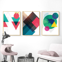 Abstract Nordic Posters and Prints Minimalist Geometry Wall Art Canvas Painting Modern Picture Home Decor for Room Decoration