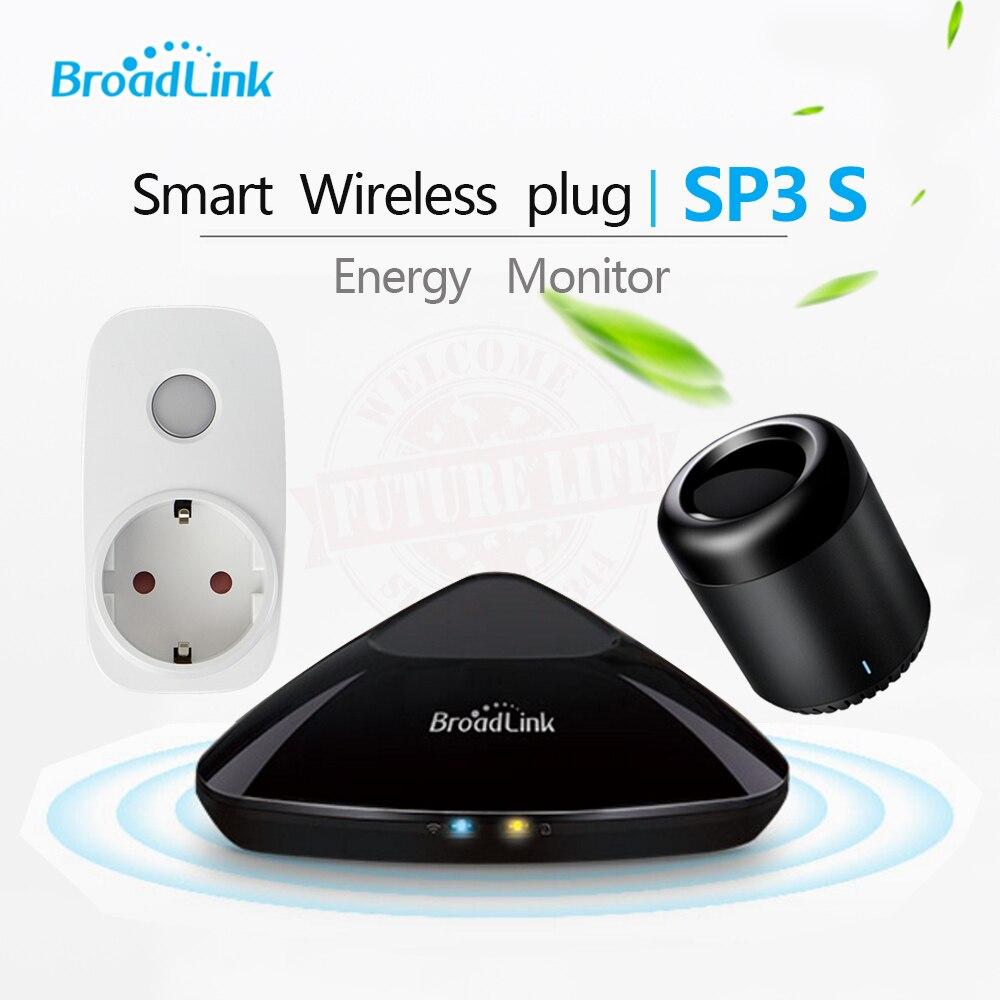 imágenes para Original SP3S Mini Monitor de Energía Inalámbrica Inteligente Broadlink WiFi Socket Control Remoto Con Medidor de Potencia Por IOS Android Teléfono 2017
