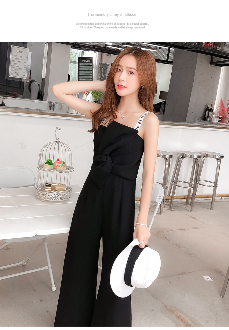 Summer New Sling Bowknot Rompers Womens Jumpsuit Fashion Wide Leg Pants Thin Combinaison Femme Elegant Ol Clothes For Women 15