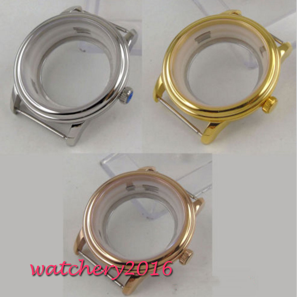 40mm stainless Steel sapphire glass watch Case fit 2836 Miyota 8215 Movement40mm stainless Steel sapphire glass watch Case fit 2836 Miyota 8215 Movement