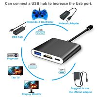 HDMI Type C Hub Adapter USB 3.0 Converter Dock Cable Cord for Nintendo Switch