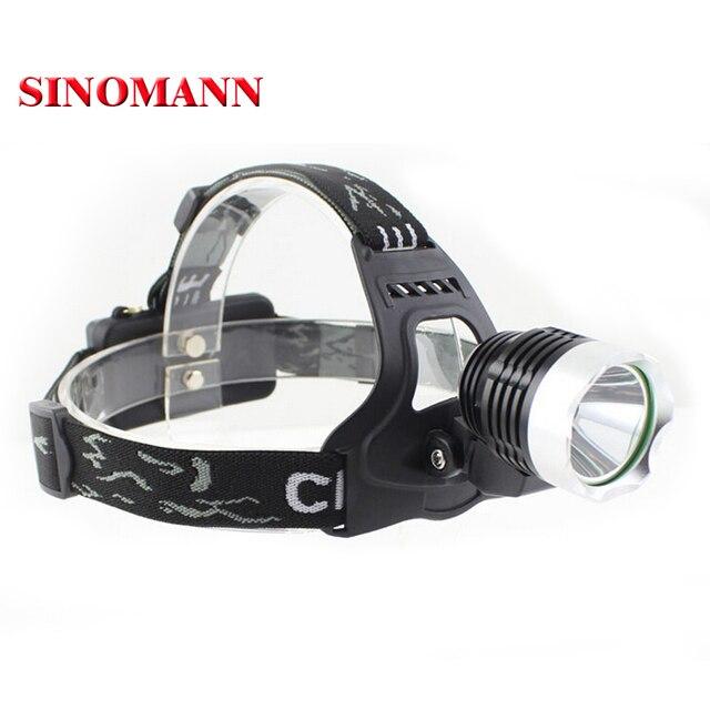 2000 Lumens Waterproof CREE XM-L T6 3 Modes Brightness LED Headlamp Headlight Head Lamp Light for Outdoor Sport Free Shipping