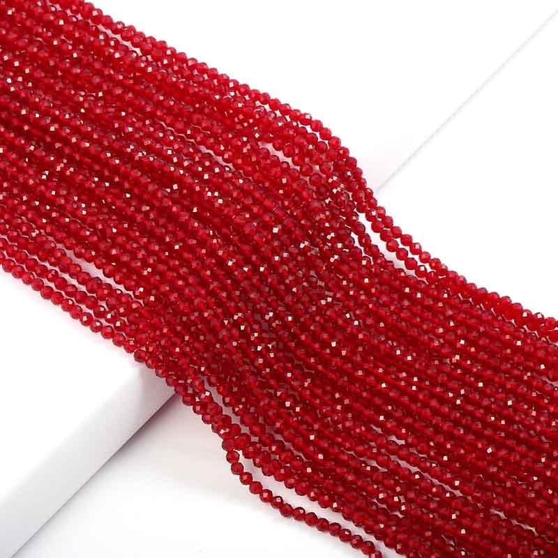 Маленькие бусины из натурального камня изумруды 2 3 мм сечение свободные бусины для изготовления ювелирных изделий ожерелье DIY браслет - Цвет: Synthetic Ruby