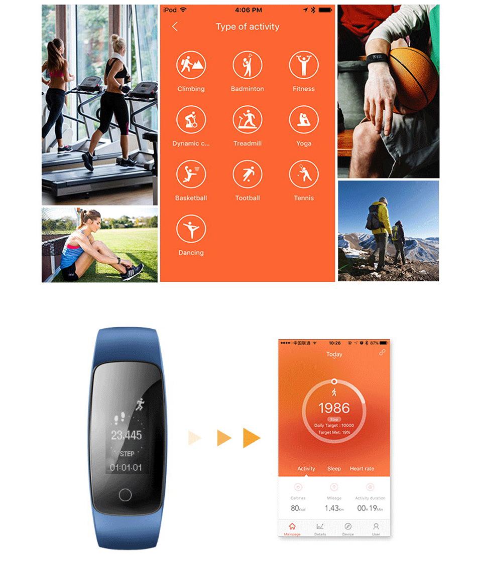 Makibes ID107 Plus HR Smart fitness bracelet (4)
