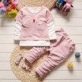 2017 Весной и Осенью Моделей детская Одежда Набор Baby Boy Спортивная Куртка + Брюки Новорожденный Спорт Мода Набор Ребенок набор