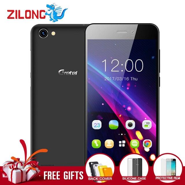 Gretel A7 4.7'' Quad Core 3G Mobile Phone Android 6.0 MTK6580 1GB RAM 16GB ROM Smartphone 8.0 MP Camera Dual SIM GPS Cellphone