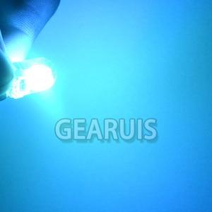 Image 4 - 100x brilhante t10 cob led 40ma silicone caso instrumento luz da placa de licença lâmpadas cunha lâmpada estilo do carro led 12 v branco 7 cores