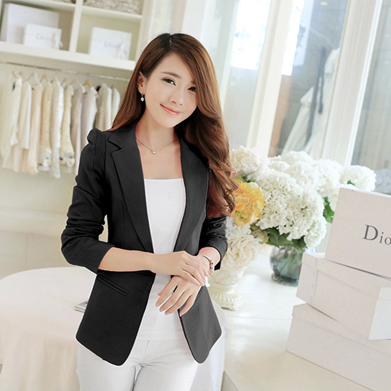 36f255df8c0 plus size 2017 spring winter women sexy casual suit blazers femininos  elegant long sleeve jackets blazers workwear office coats-in Blazers from  Women s ...